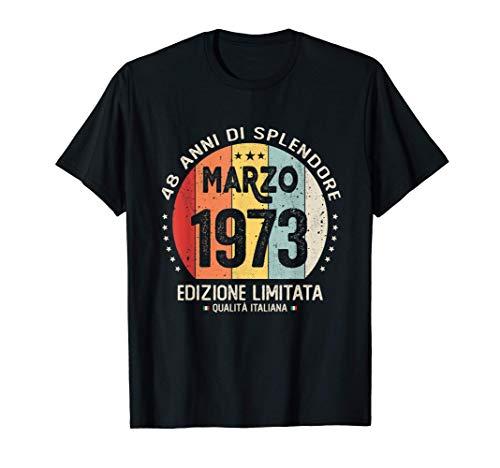 Vintage Marzo 1973 donna uomo Regali per 48 anni Compleanno Maglietta