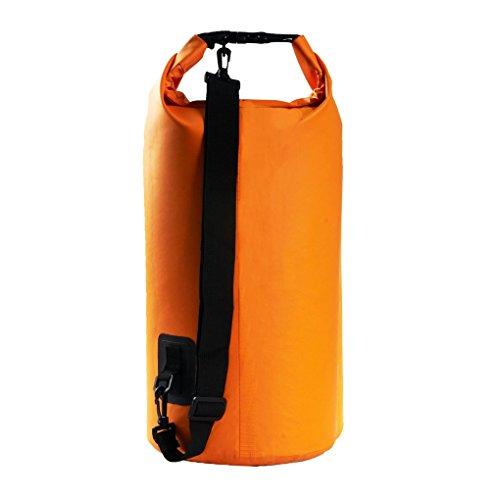 BAO núcleo drifteando 10L 20L bote seco impermeable bolsa de buceo vela pesca canoa remar anarquia bolsa azul/amarillo/rojo, color Naranja - naranja, tamaño 20 Liters