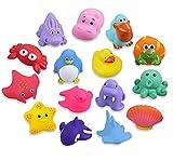 Lictin 15 Set Giochi da Bagno per Bambini Giocattoli - Set di Giocattoli per Il Bagnetto per Bambini Giocattoli da Bagno galleggianti