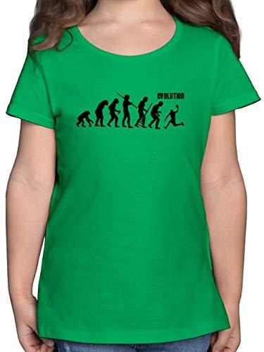 Evolution Kind - Evolution Basketball - 152 (12/13 Jahre) - Grün - Basketball Evolution Kinder t-Shirt - F131K - Mädchen Kinder T-Shirt