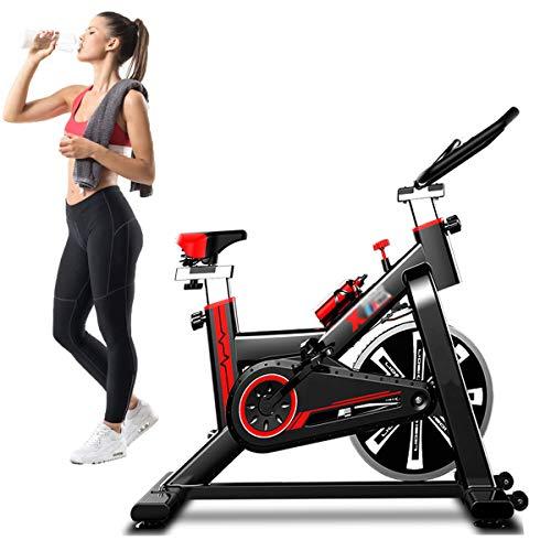 LQ&XL Bicicleta EstáTica Indoor - Bicicleta De Spinning - Ejercicio Fitness Bicleta con Pantalla Led, Volante,Ajuste De Resistencia, hogar de Adelgazamiento Adultos Unisex Soporte De Carga 250 Kg