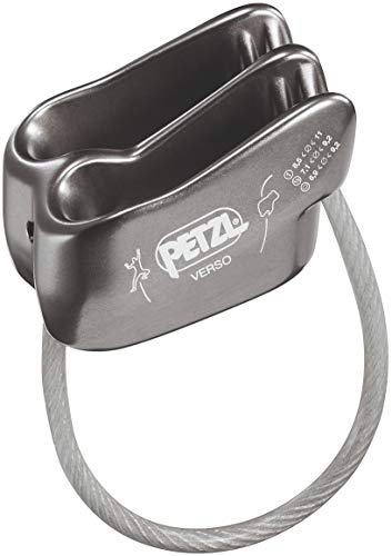 PETZL - Verso Lightweight Belay/Rappel Device, Gray, Gray