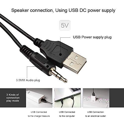 Zinq Technologies Beast Portable Laptop/Desktop USB 2.0 Powered Multimedia Speaker with AUX Input, deep bass, LED Lights, 3.5mm Audio Input (Black)
