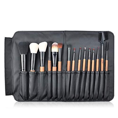 Pinceau Fond de Teint, 28pcs pinceau de maquillage ensemble professionnel haute quailty cosmétiques pinceaux maquillage kit d'outils avec PU cuir maquillage étui idéal pour le modelage, l'ombrage