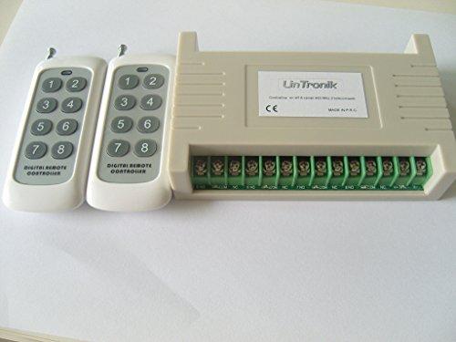 Lintronik - UNITÉ 8 Canal RÉCEPTEUR on_Off avec 2 TELECOMMANDE Longue Distance 433 MHz