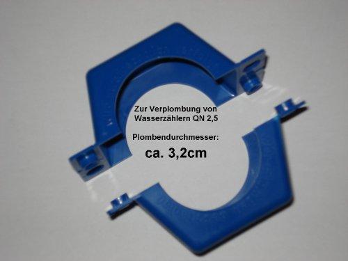 Plombierschelle QN 2,5 zweiteilig Blau