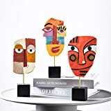 YOKOZUNA Creative Human Face Head Statue Abstract Human Face Sculpture for Home Living Room Bed Room Decor (D)