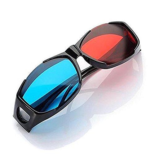 ETbotu Zubehör für Herren, 3D-Brille direkt-3D-Brille – Nvidia 3D Vision Ultimate Anaglyphe 3D-Brille – passt über verschreibungspflichtige Brillen