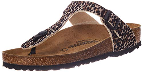 BIRKENSTOCK Damen Gizeh Sandale, Leo Lilly Brown Orange, 40 EU