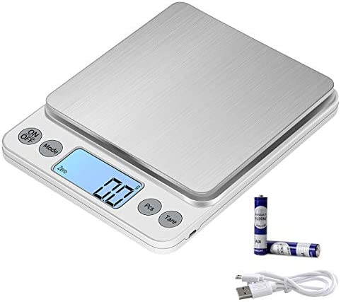 KUBEI Upgraded Larger Size Digital Food Scale Weight Grams and OZ 5kg 0 1g Kitchen Scale for product image