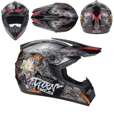 Persoonlijkheid 4 seizoenen motorcross helm - Heren en Dames Elektrische Helm - Mountainbike Volledige helm - Downhill Pirate - Wit/Zwart/Geel/Rood