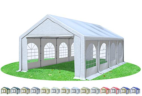 Stabilezelte Partyzelt 4x8m Modular Professional PVC 500 g/m² mit Fenster Weiss