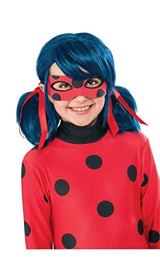 Rubie's officiële Miraculous Lady Bug pruik, voor kinderen, eenheidsmaat