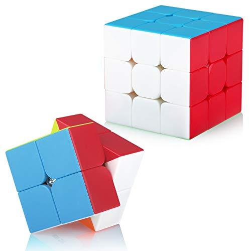 Maomaoyu Zauberwürfel Geschenkset Speed 3x3x3+2x2 Magischer Würfel Puzzle(Stickerless)