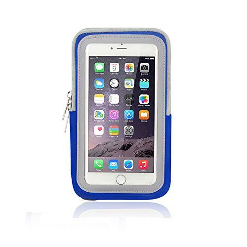 Zyangg-Home Sports de Plein air Sac Bras Courir Sports Téléphone Mobile Bras Sac Bras Bracelet Sangle Fitness Sac Bras Téléphone Sac de Rangement (Color : Blue, Size : 4.0-5.2 inch Phone)