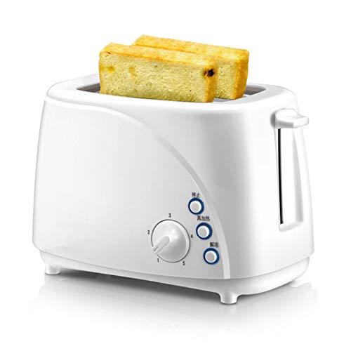 WANGYIYI Tostadora Multifuncional Inicio Desayuno Toast Máquina de calefacción 2 rebanadas Slot Desayuno Sandwich Maker 5 Ajuste de Temperatura (Color : White A)