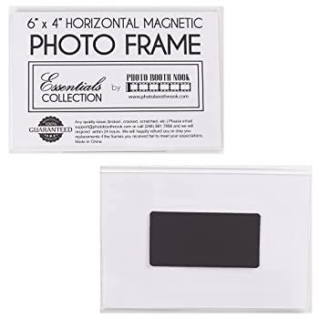PHOTO BOOTH NOOK 6  x 4  Acrylic Magnetic Photo Frame Sign Holder Horizontal/Landscape Orientation  12 pack