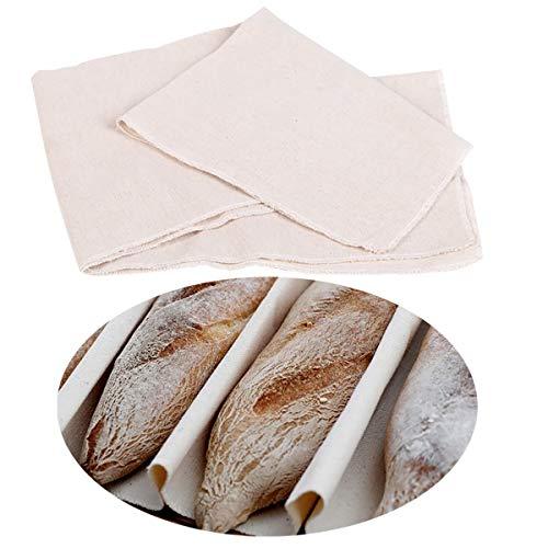 Paño de Prueba de Lino Profesional para la Masa de Pan de Pan de Prueba de Baguette, repostería de panadería Couche Bread Mat para Hornear Pan de Masa fermentada de Cocina (29.5X17.7in)