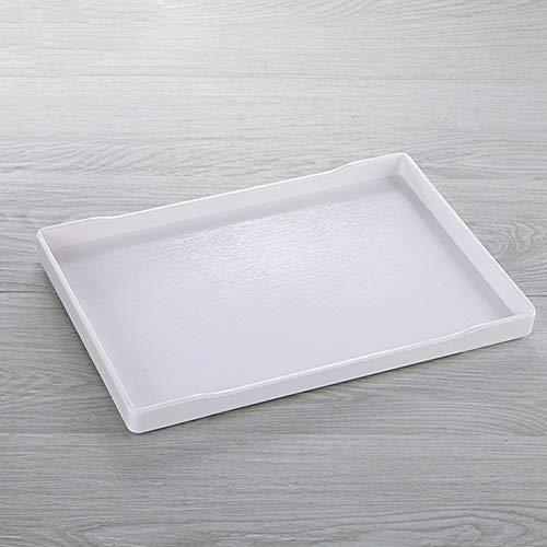 Ruosaren Vanity Tray, Toilet Tank Opslagruimte, Hars Badkuip lade Badkamer lade Houten Graan Tray, Vanity Organizer voor Tissues, Kaarsen, Zeep, Handdoek, Plant, etc(Zwart) Kleur: wit