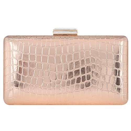 Bonjanvye Crystal Clutch Party Purses and Clutches for Women Evening Bags Champagne