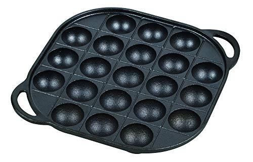 パール金属(PEARL METAL) たこ焼きプレート ブラック 21穴 鉄鋳物製 21穴 スプラウト HB-4621