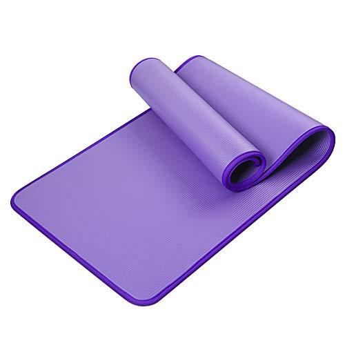 HBHS Fitnessmatte, Suddefr Yogamatte, rutschfest, Tragbar, Extra-Dick Breit, Gymnastikmatte, Unisex Sportmatte für Yoga Pilates Fitness Gymnastik.