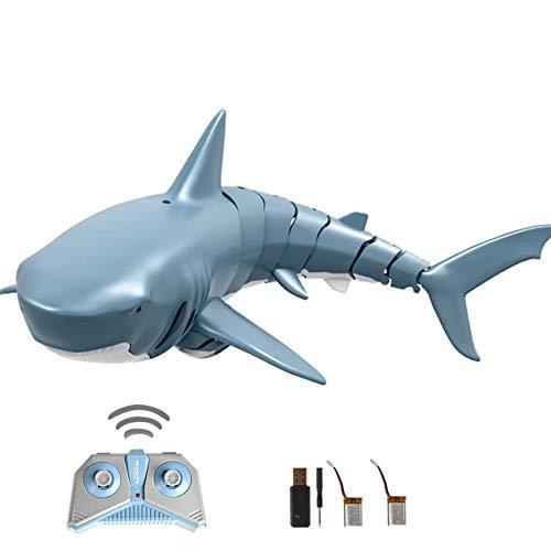 ロボットサメ RCスピードボート ラジコンボート 新バージョン 防水強化 子供贈り物 (グレー)