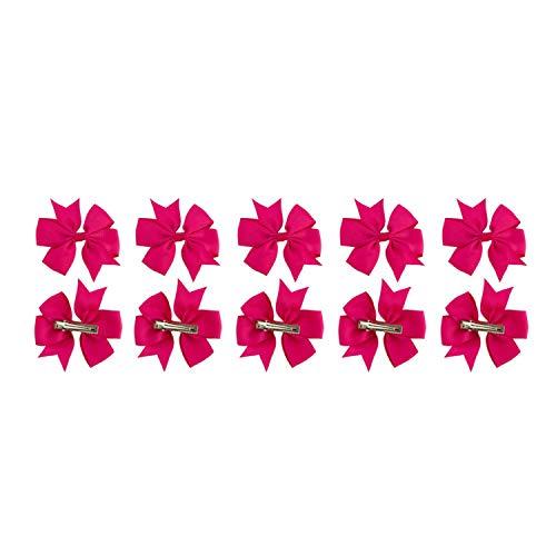 Oblique Unique® Lot de 10 nœuds à Cheveux pour Femme Fille Hawaii Party JGA Anniversaire Fête