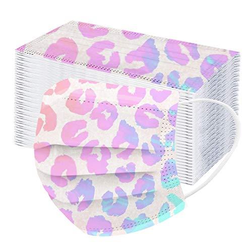 100 Stück Schmetterling Lustige Mundschutz Einweg Erwachsene Mund-Nasenschutz Weihnachten Atmungsaktiv Bandana Halstuch Schals for Mund und Nasenschutz