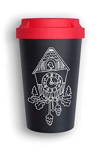 heybico Coffee to go Becher Made in Germany | Frei von Melamin & ohne Bambusfasern (Schwarzwald)