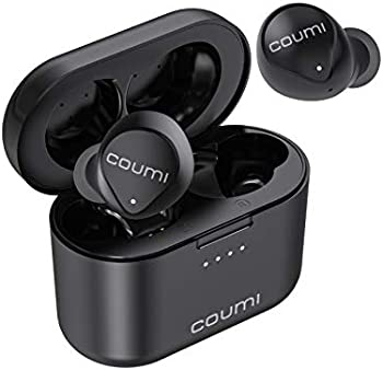 COUMI Bluetooth Earbuds Stereo Bass in-Ear Earphones