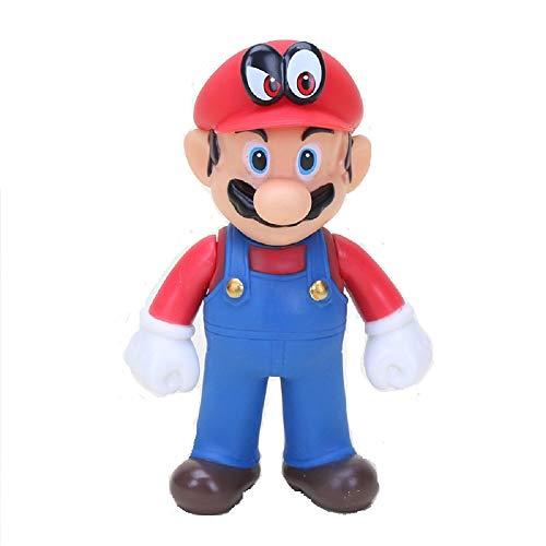 CY 13 cm Super Mario Bros Luigi Mario Yoshi Koopa Mario Maker Odyssey Mushroom Toadette PVC Action-Figuren Spielzeug Modell Puppen (Red hat Eye)
