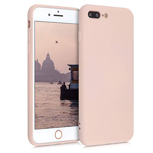 kwmobile Cover Compatibile con Apple iPhone 7 Plus / 8 Plus - Custodia in Silicone Effetto Gommato - Back Case Protezione Cellulare - Rosa Antico