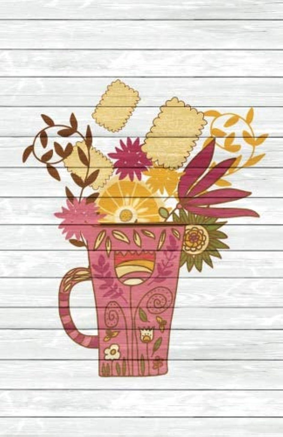 特異な意識遅れTea Time Creative Journal 2: (5.5 x 8.5 Small)(Dot Grid) Blank Journal Notebook Organizer Planner Sketchbook Gratitude Diary Pocket Size Tea Cup Lover Flowers Spices Strainer Fruit Whimsical