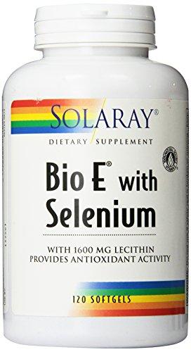 Solaray Bio Vitamin E with Selenium 400IU | Healthy Cardiac Function, Antioxidant Activity & Skin Support | High Absorption | 120 Softgels