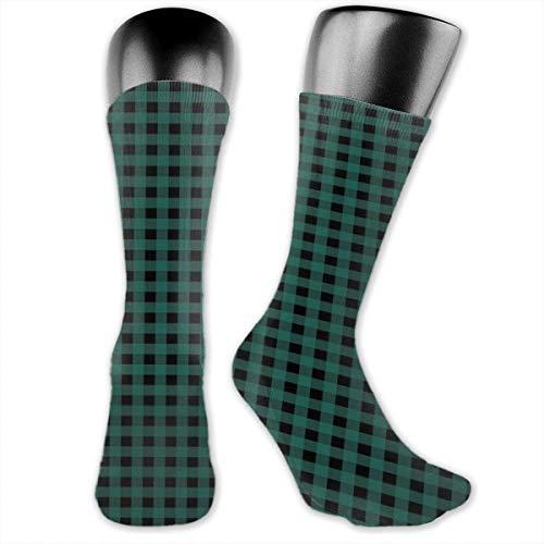 Compression Medium Calf Socks,Scottish Tartan Like View Repeating Squares