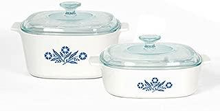 Corningware Pyroceram Blue Cornflower 4 pc. Glass Ceramic Cookware Set - Limited Edition