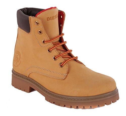 Diesel Damen Boots Stiefeletten Stiefel Camel #13 (41)
