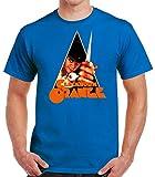 Desconocido 35mm - Camiseta Hombre Clockwork Orange - La Naranja Mecanica - Cine de Culto - Azul -...