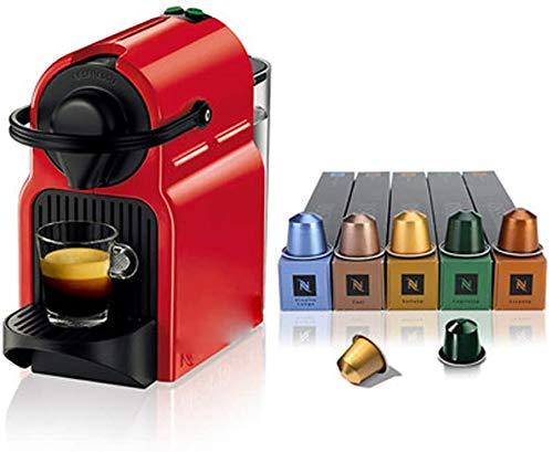kaige Mini máquina de café automática del Equipo con 50 Cápsulas del Archivo Función Cafetera de Goteo Cafetera Temporizador, Protección de tintorería WKY