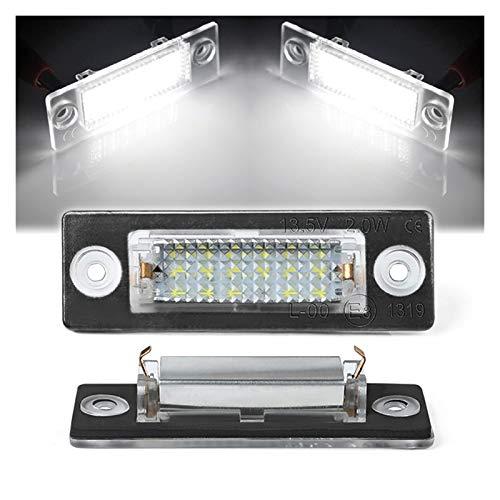 SUNYANG Summer Solstice 2 unids LED Licenciamiento Número de Placa Lámparas Ligeras Ajuste para VW Transporter T5 T6 Passat B6 3C B5.5 Caddy 3 Golf 4 Jetta 5 Syncro 5 Touran
