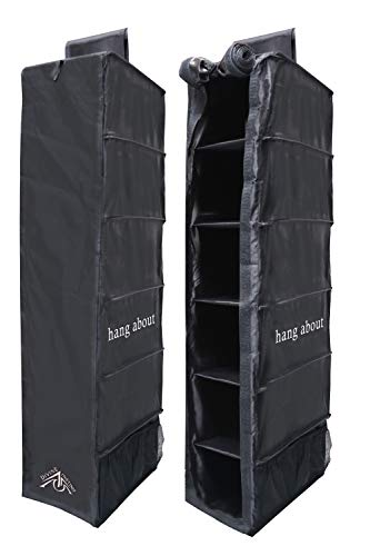 Hanging Camper Storage - Closet Wardrobe Organizer Shelves for Clothes and Shoes - Premium Storage Containers for Backpacking, Hiking, Camping - Collapsible, Water-Resistant - RV Accessories