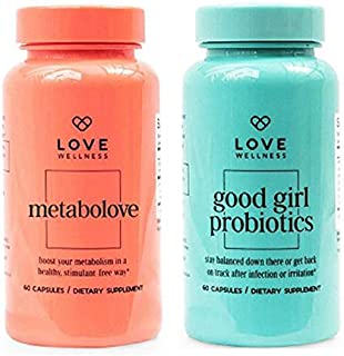 Love Wellness Womens Healthy Dietary Supplement Set! Metabolove & Good Girl Probiotics! Metabolove Help to Boost Your Metabolism in A Healthy Way! Good Girl Probiotics Good Health Starts in Your Gut!