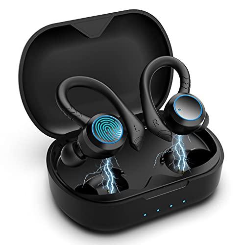 Bluetooth Kopfhörer AOVOCE Bluetooth 5.0 Kabellos Kopfhörer In Ear Sport Kopfhörer 36 Hour IPX7 mit wasserdichter Touch Control Funktion geeignet und Mikrofon für Sport Laufen Fitnessstudio