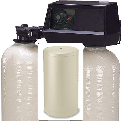 AFWFilters AFW Filters Built 64k Digital Dual Tank Alternating IRON PRO Water Softener with Fleck 9100SXT (3/4'), 0.75 Inch, almond Or Black