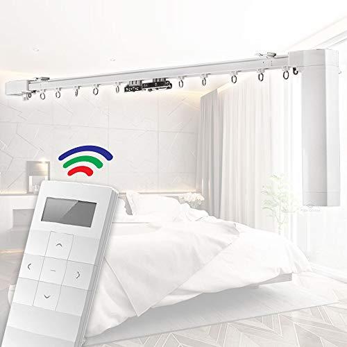 Rieles motorizados para cortinas, con control mediante mando a distancia Funcionan con Apple Homekit