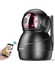 【最新 ネットワークカメラ wifi 小型 監視カメラ 1080P 200万高画素 ドーム型 防犯カメラ 双方向音声 遠隔操作 暗視撮影 屋