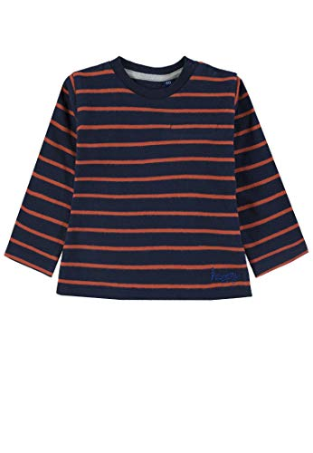 TOM TAILOR Kids T- Shirt Striped, Bleu (Navy Blazer|Blue 3105), 86 Bébé garçon