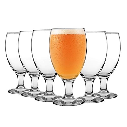 LAV 24 Pieza Empire clásico trago de cerveza de cristal Set - grande en forma de cuenco Craft Beer Glasses Ale - Claro - 590ml
