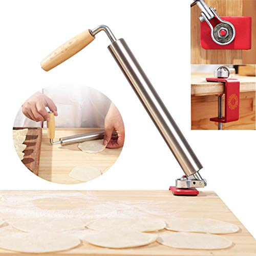 Rolling Pin Stainless Steel Cookies Pasta Pastry Dough Pie Pizza Fondant with Handle Dishwasher Safe for Baking